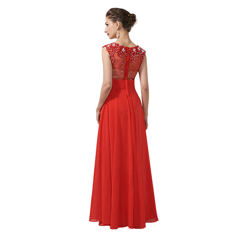 High Quality Lace Sheer Top Floral Regular/Plus Size Beaded Ball ...
