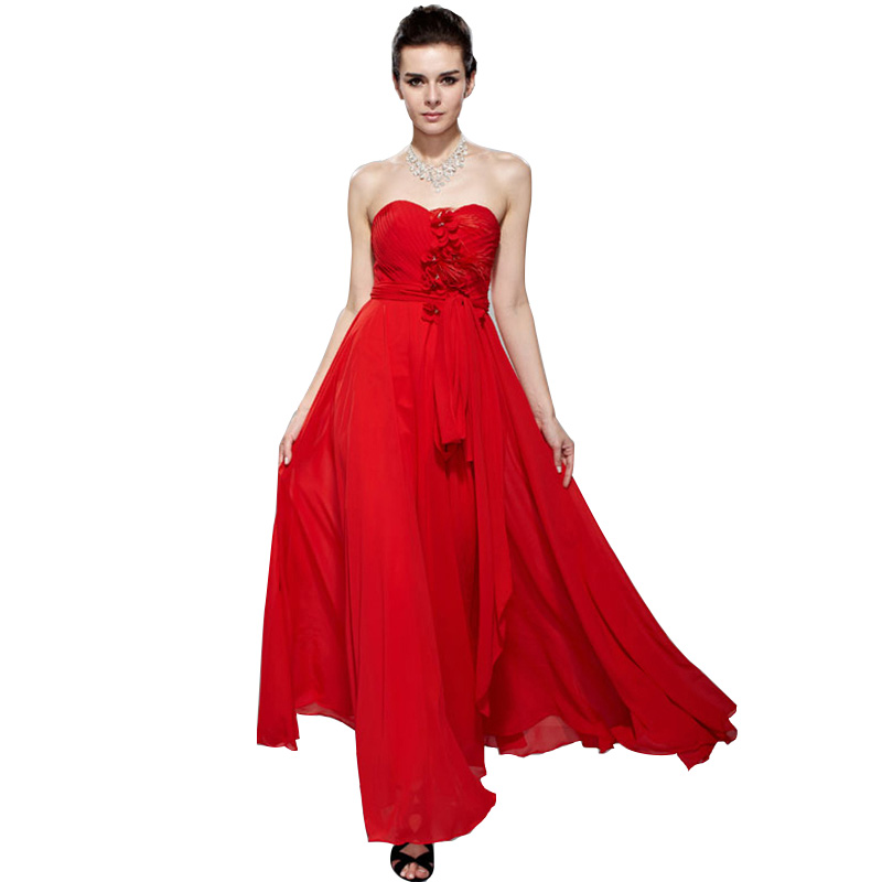 A Line Chiffon Swing Empire Waist Evening Gown Regular/Plus Size ...