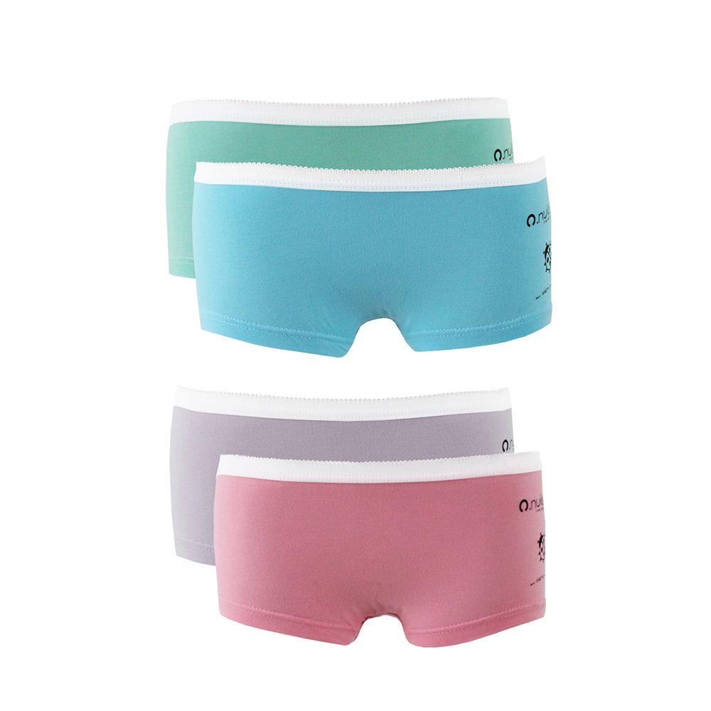 4e8ff6b9dd8c Nukleus Kid's Girl Organic Cotton Natural Super Comfort Underwear Shorty  (Pack Of 2)