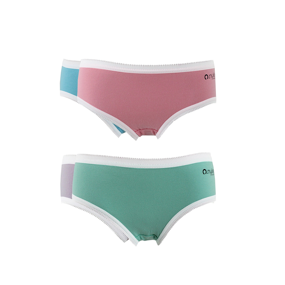 370ed46384e4 Nukleus Kid's Girl Organic Cotton Mini Briefs Comfort Panties Underwear  (Pack Of 2)