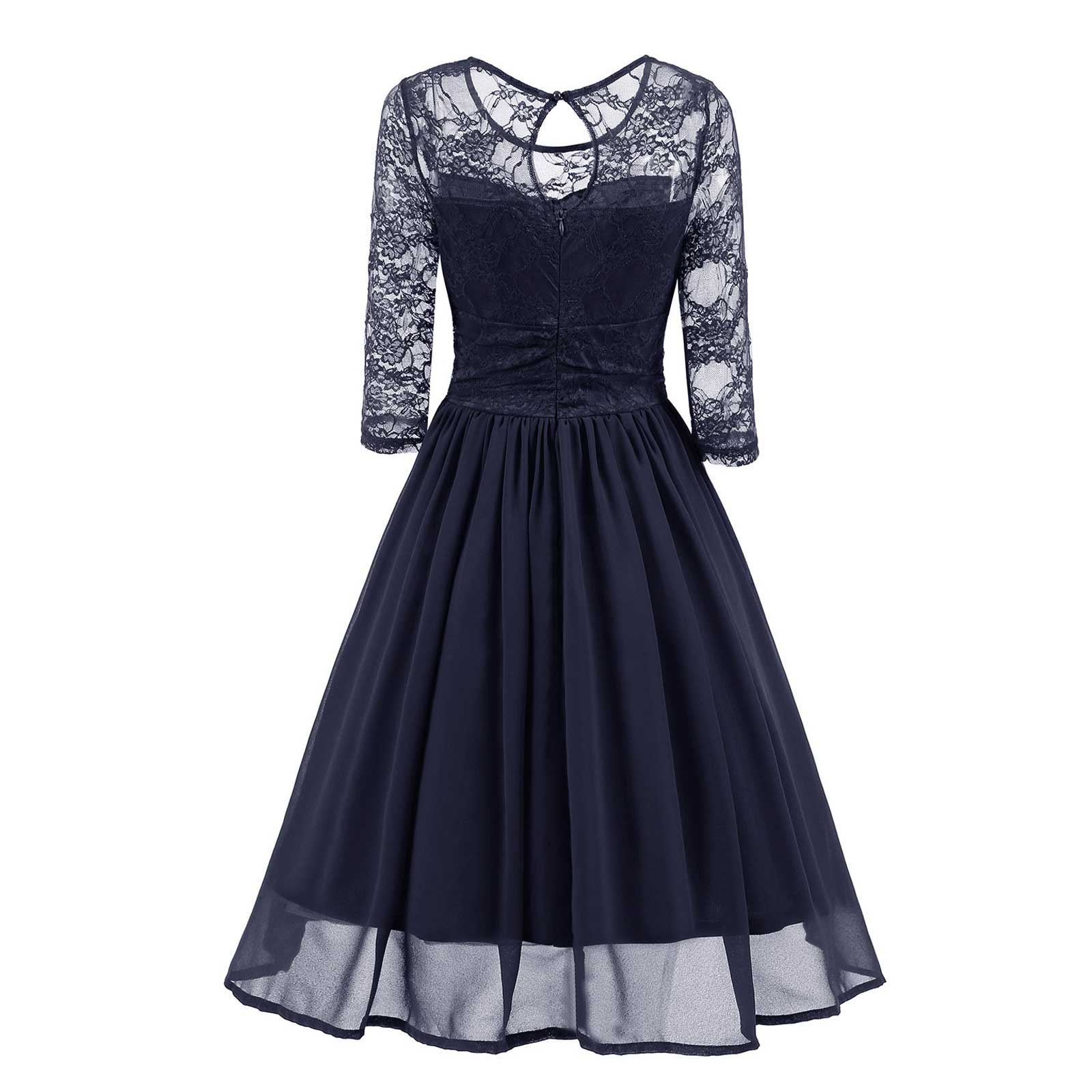 Classic Retro Chiffon Fit and Flare Party Cocktail Formal Evening A ...
