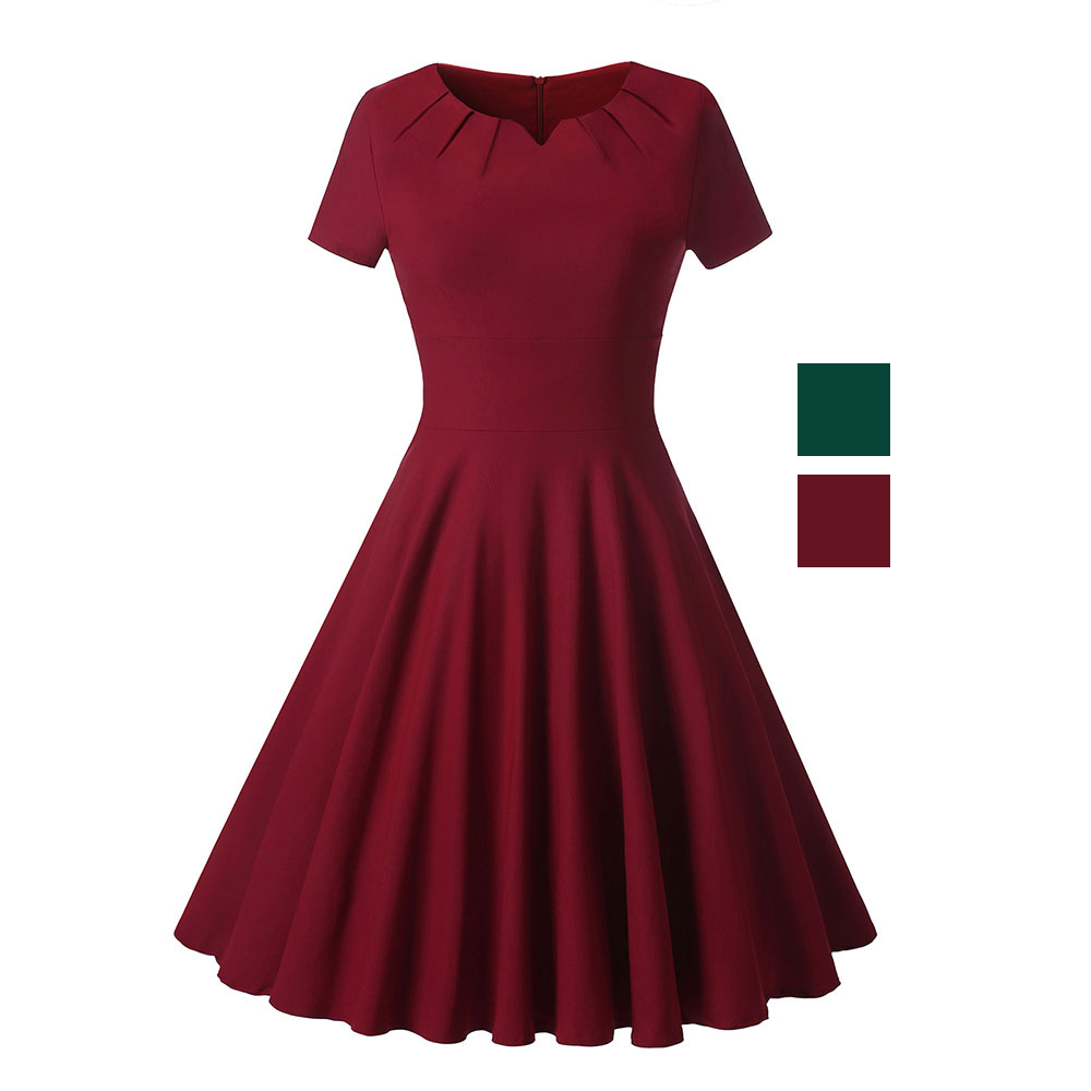 Classy Skater Party Formal Evening Cocktail A Line Dress Apricus