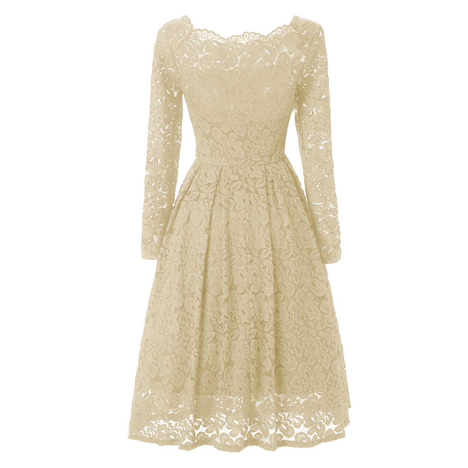 Sexy Floral Lace Off Shoulder Vintage Party Prom A-Line Dress ...