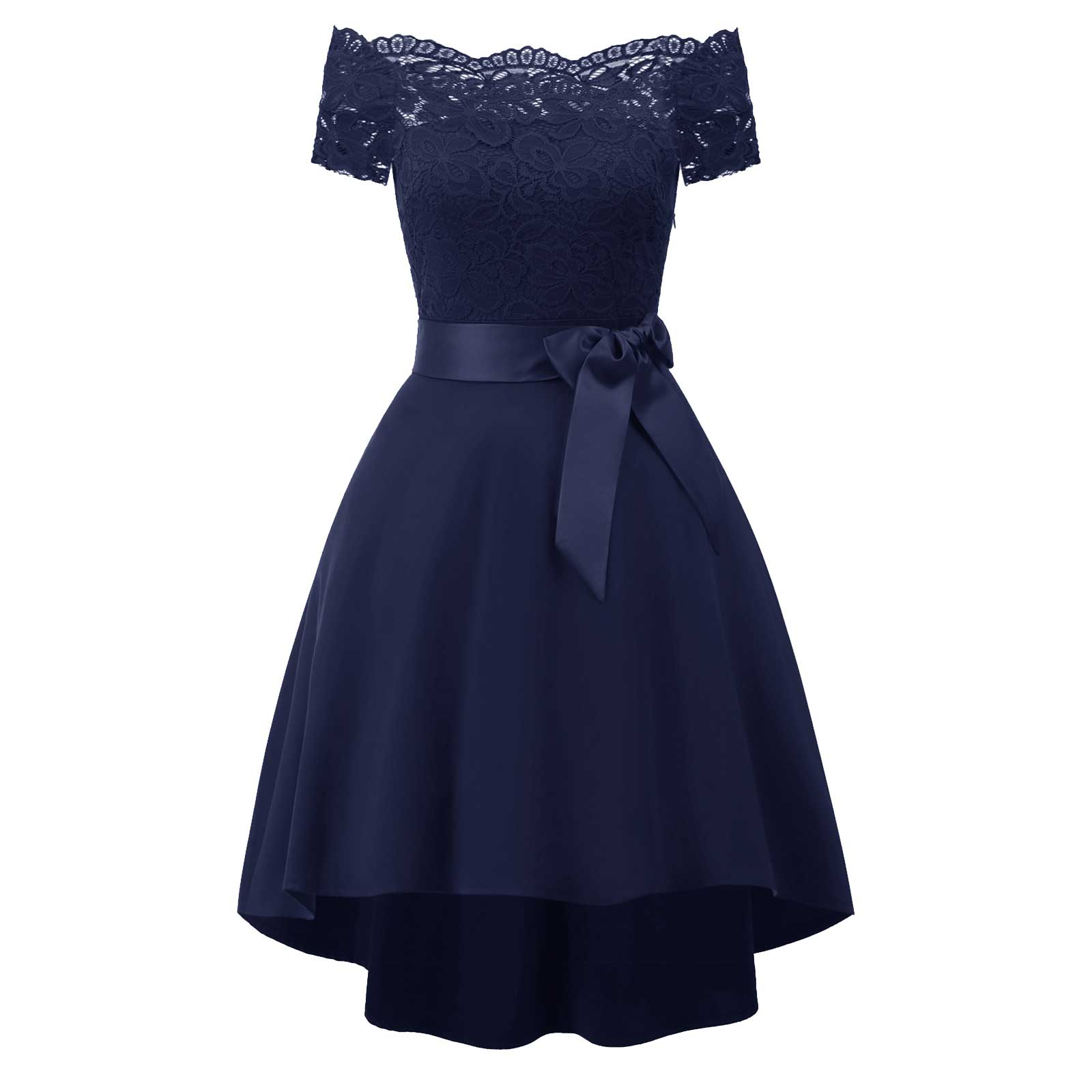 0299e7cfbae2 Vintage Off Shoulder Bowknot Formal Evening Cocktail Dress – Apricus ...