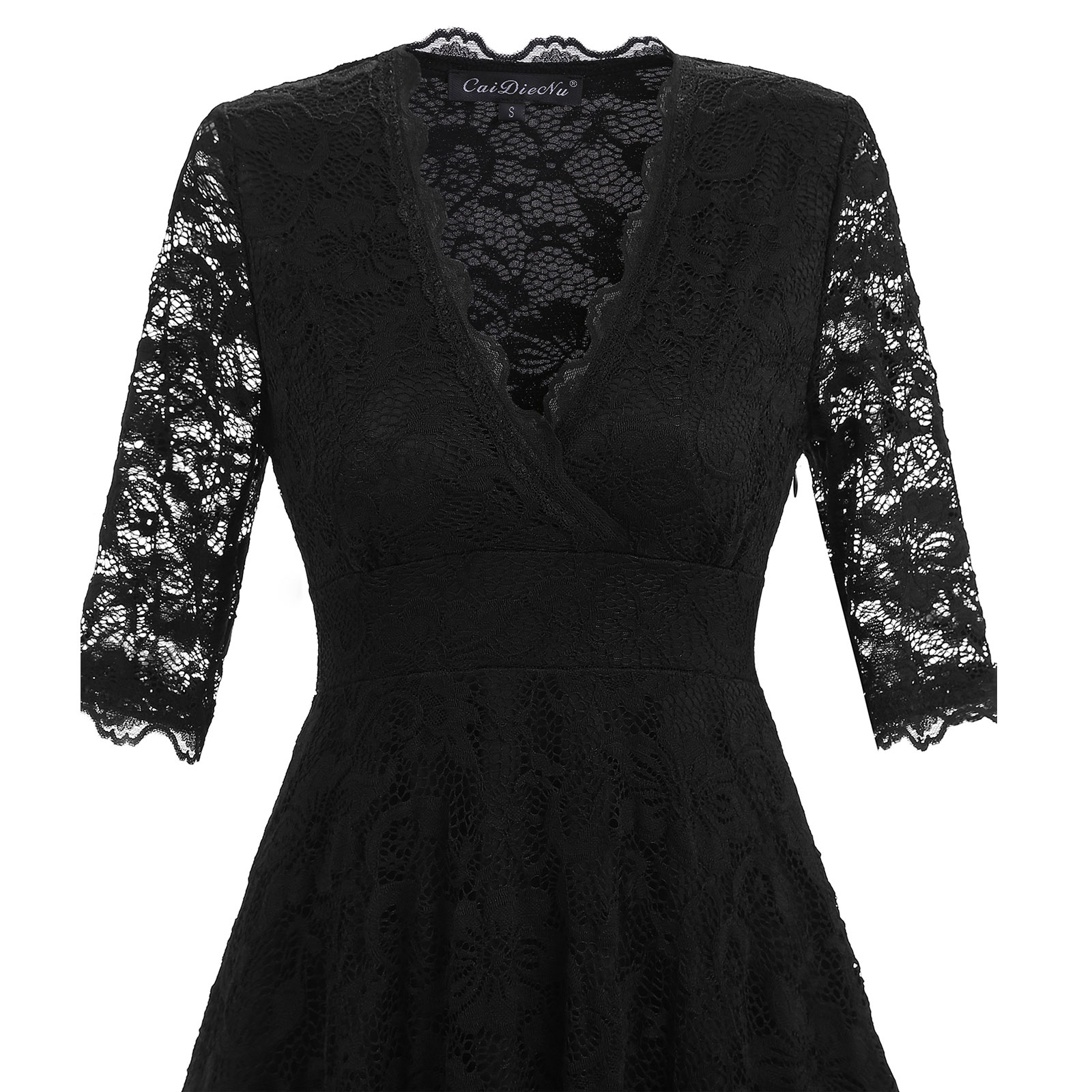 Women Sexy Lace 3 4 Sleeve Party Cocktail Wedding
