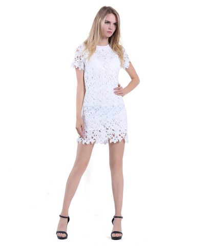 62abb6592c Women Sleeveless White Princess A line Lace Short Party Cocktail Dress.   31.90. Add to Wishlist loading