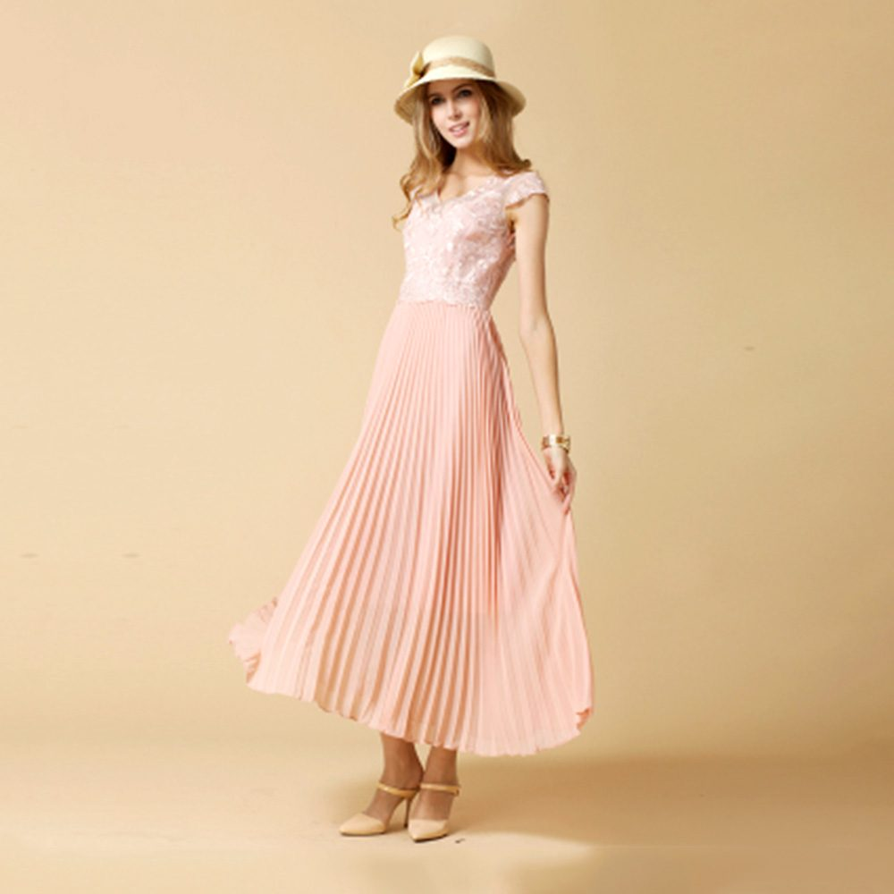 2b92c552be05 Women Sleeveless Pink Chiffon Pleated Long Casual Evening Dress – Apricus  Fashion – Premiere Women's Fashion at Affordable Prices