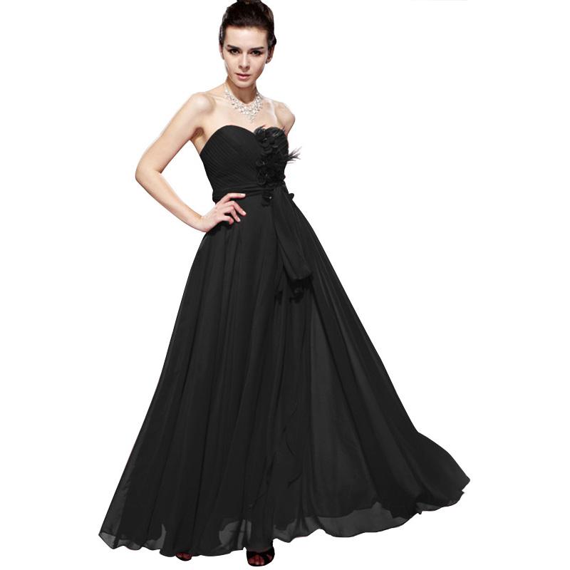 A Line Chiffon Swing Empire Waist Evening Gown Regular/Plus Size ...