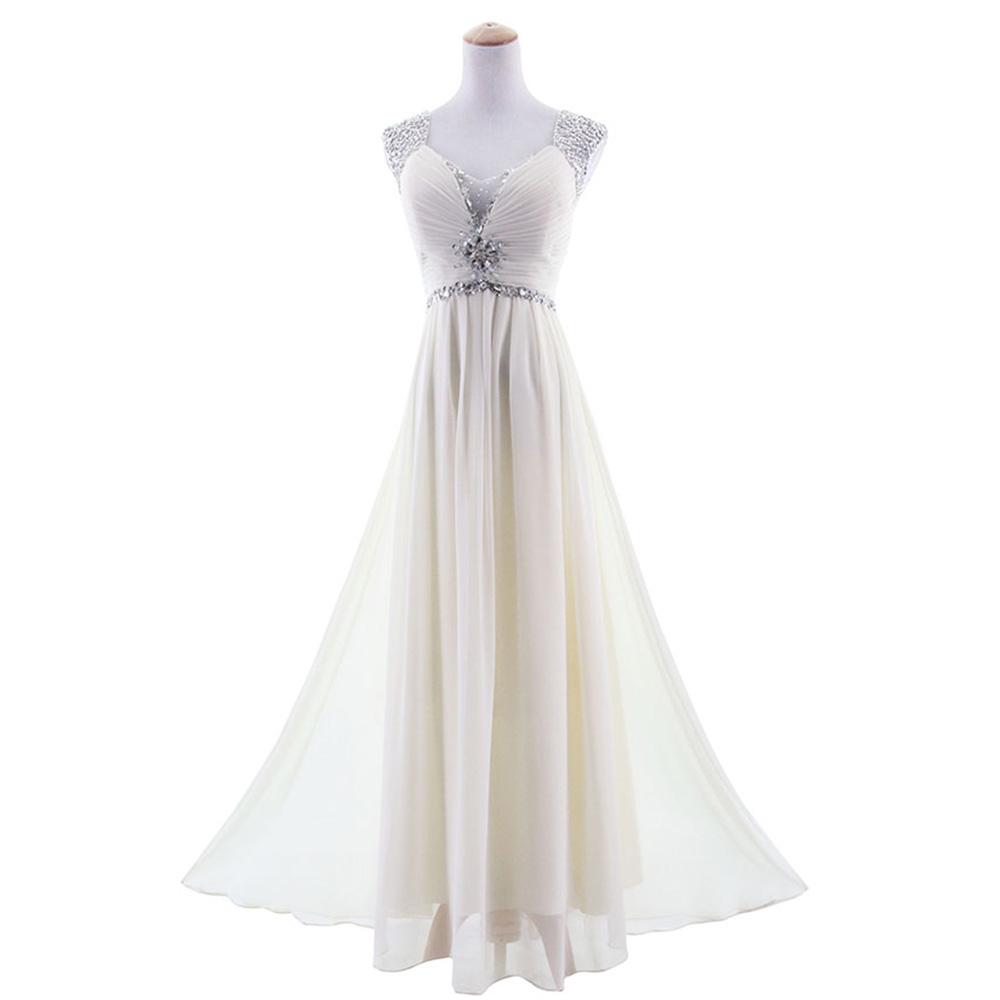 Chiffon Formal Evening Dress Regularplus Size Crystal Beading High