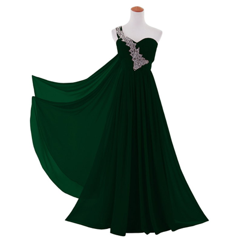 One Shoulder Long Evening Dress