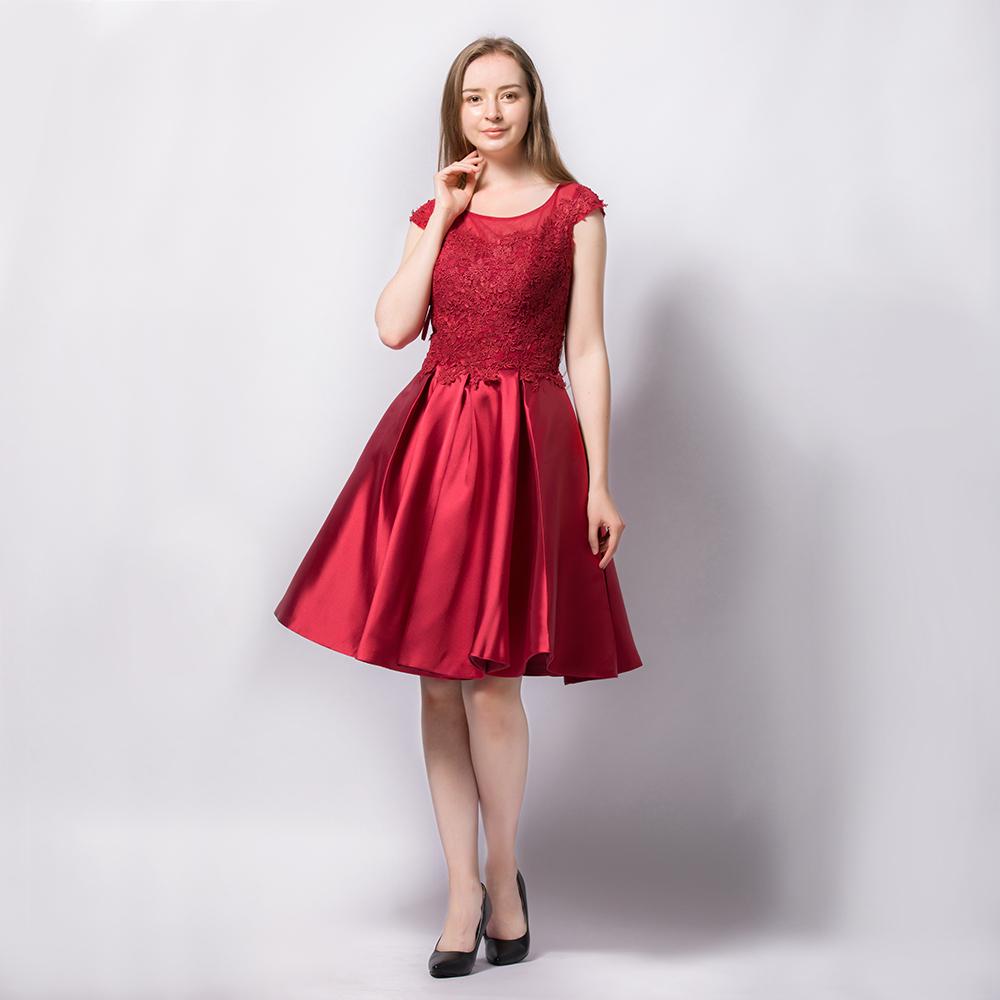 8640c67b02c Floral Applique Formal Evening Gown Wedding Party Cocktail Short A ...