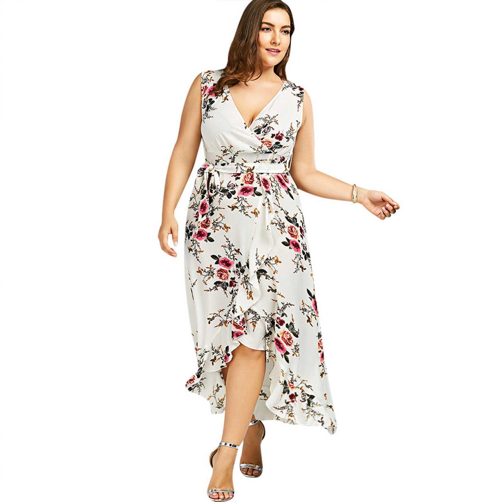 d9b85c14945e ... sleeveless-tiny-flower-print-high-low-high-waist-cocktail-party-evening- prom-tea-wedding-bridesmaid-summer-spring-ruffle-clubwear-a-line-dress- dresses-1