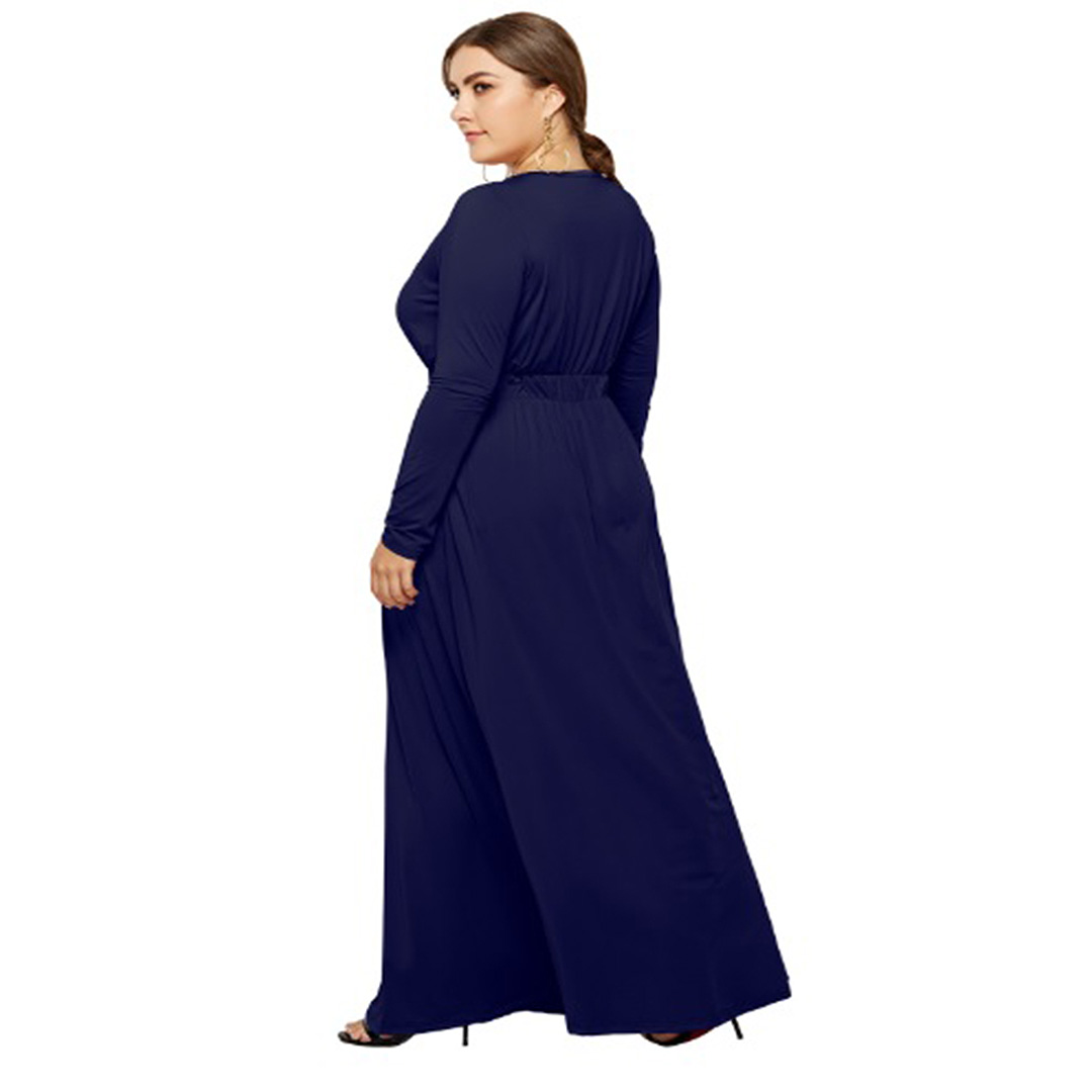 b9aad50a6a6 Slimming Long Sleeve Keyhole Women Long Sleeve Plus Size Maxi Dress ...