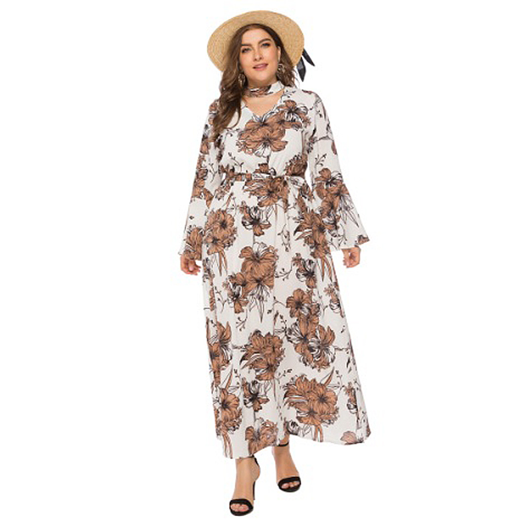 women-spring-collecton-2019-plus-size-floral-long-sleeve ...