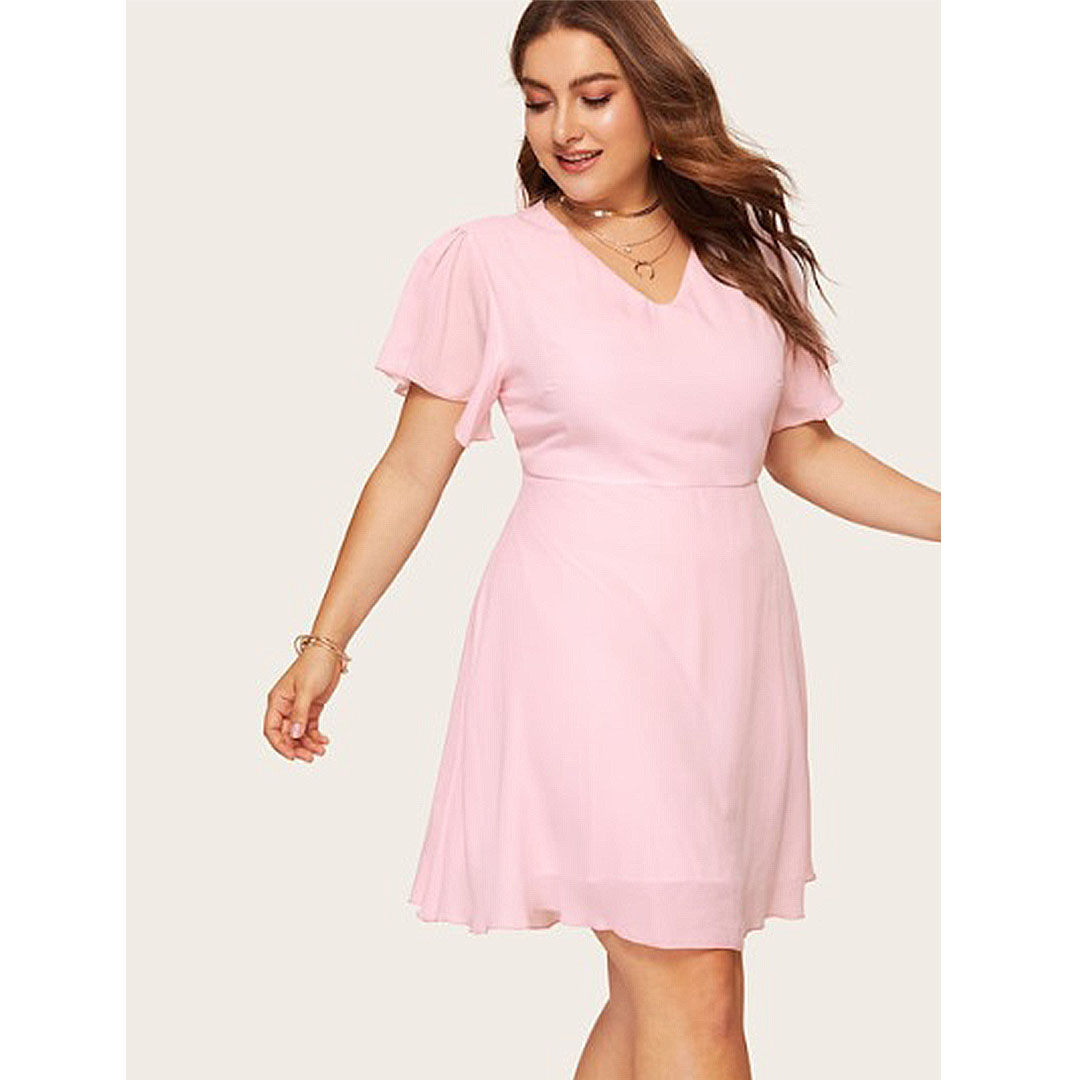 fb882da1f58 Plus Size Cocktail Dress With Short Sleeves - Gomes Weine AG