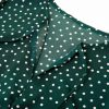 women-green-polka-dot-casual-party-a-line-tiered-dress-with-sleeves-5